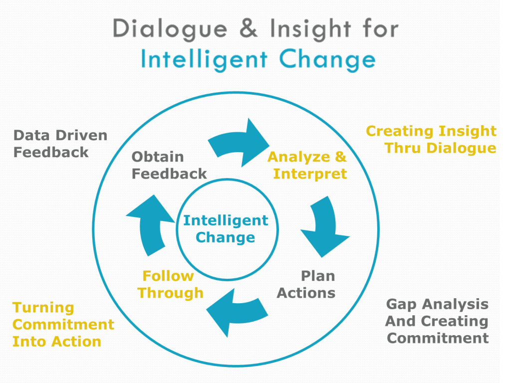 Dialogue & Insight for Intelligent Change Graphic